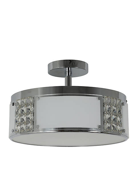 Décor Therapy Iris Metal and Glass Flush Mount