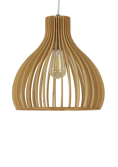 Décor Therapy Demelza Wood Frame Pendant Light