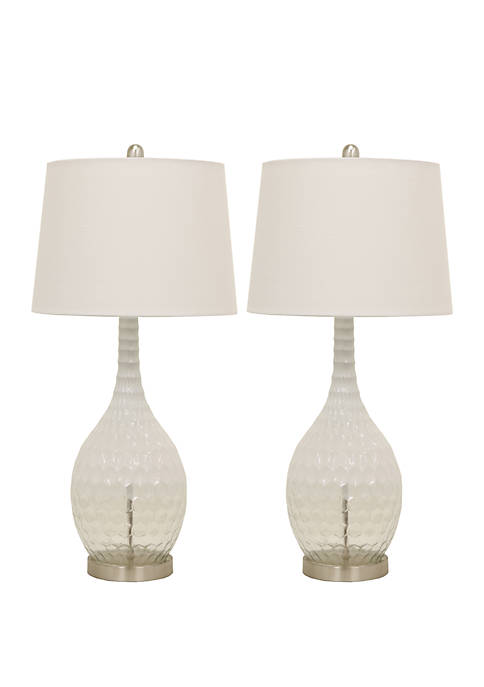 Décor Therapy Set of 2 Frosted Glass Genie