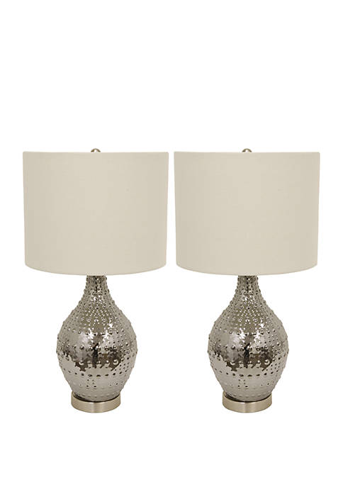 Décor Therapy Set of 2 Gray Luster Glass
