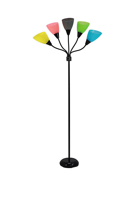 Décor Therapy Cecil 5 Light Floor Lamp