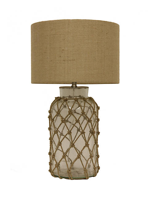 Décor Therapy Seeded Glass Table Lamp with Rope