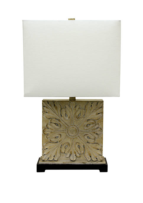 Décor Therapy Square Carved Table Lamp