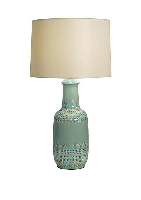 Décor Therapy Patterned Ceramic Table Lamp