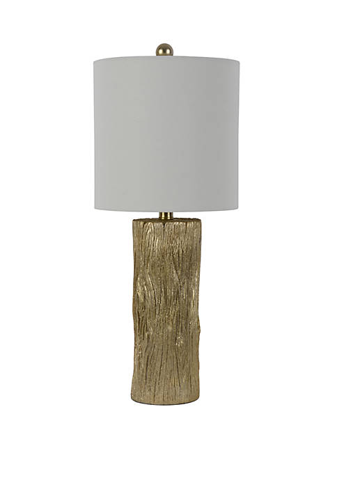 Décor Therapy Olea Gold Leaf Stump Table Lamp