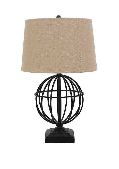 Décor Therapy Ethan Iron Sphere Table Lamp