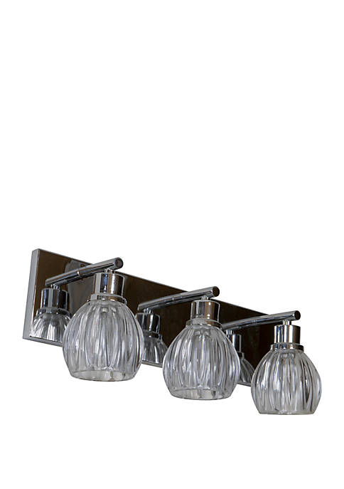 Décor Therapy Adine 3 Light Ribbed Glass Wall