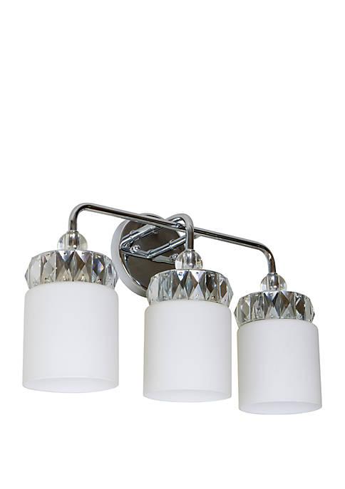 Cora Crystal and Glass 3 Light Vanity Light