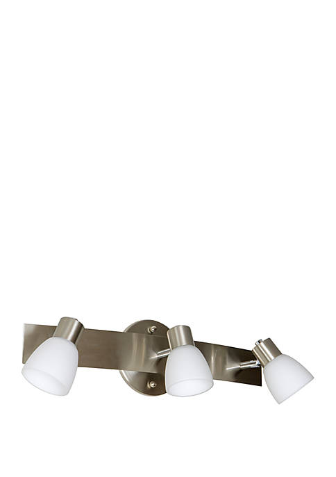 Décor Therapy Coppa 3-Light Brushed Nickel Wall Light