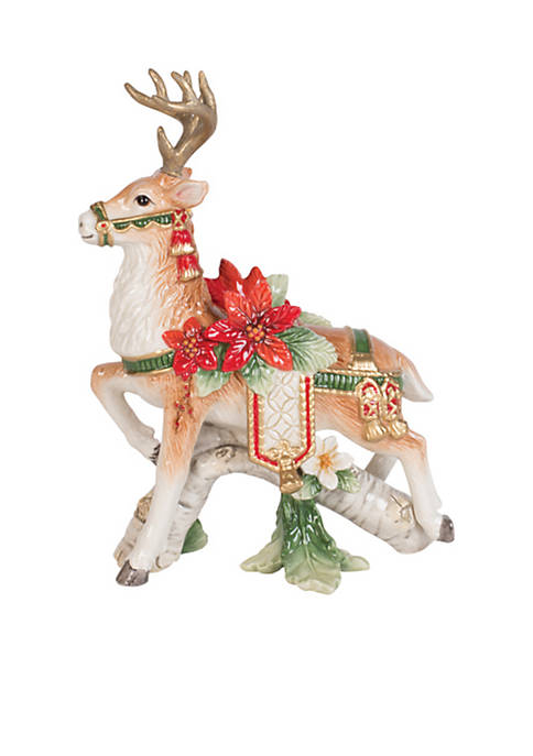 Fitz and Floyd Cardigan Left Facing Deer Candle