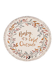 Wintry Woods Holiday Plate