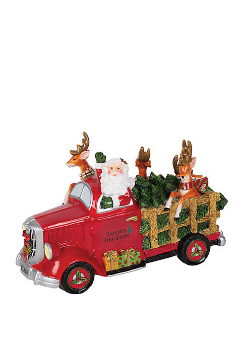 Fitz and Floyd Santa's Tree Truck Holiday Musical,
