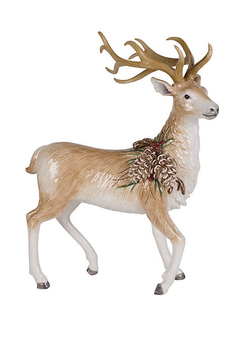Fitz and Floyd Forest Frost Standing Deer Figurine