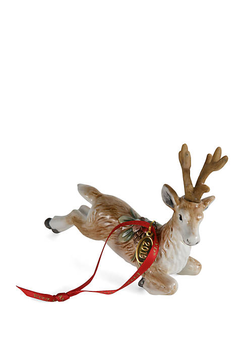 Fitz and Floyd Forest Frost Deer Ornament Dated