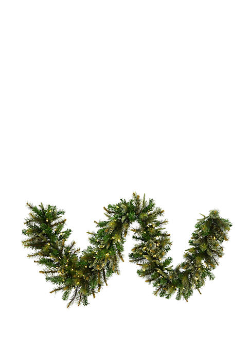 Vickerman 9 Cashmere Artificial Christmas Garland with 150
