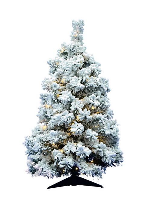 Flocked Holiday Tree