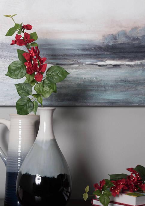 Red Single Bougainvillea floral Stem - Set of 3