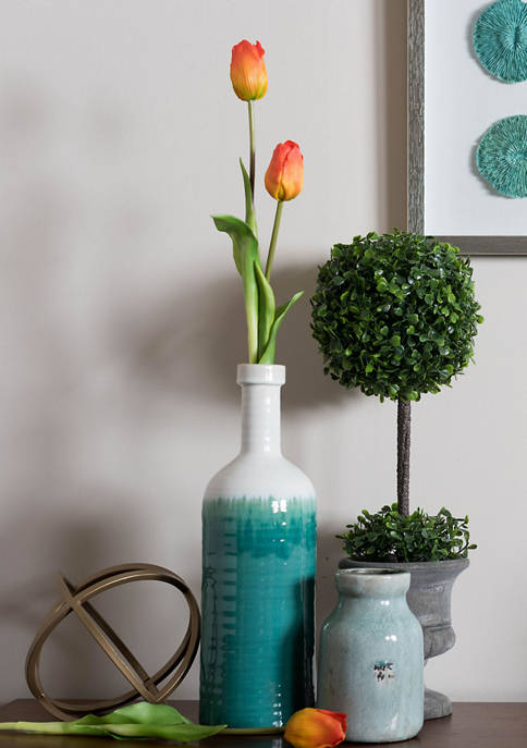 Vickerman Orange Tulip Stem -Set of 3