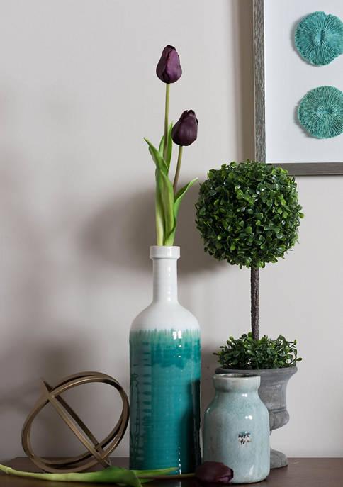 Purple Tulip Stem - Set of 3