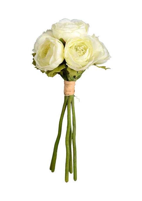 Mini White Ranunculus Spray - Set of 3