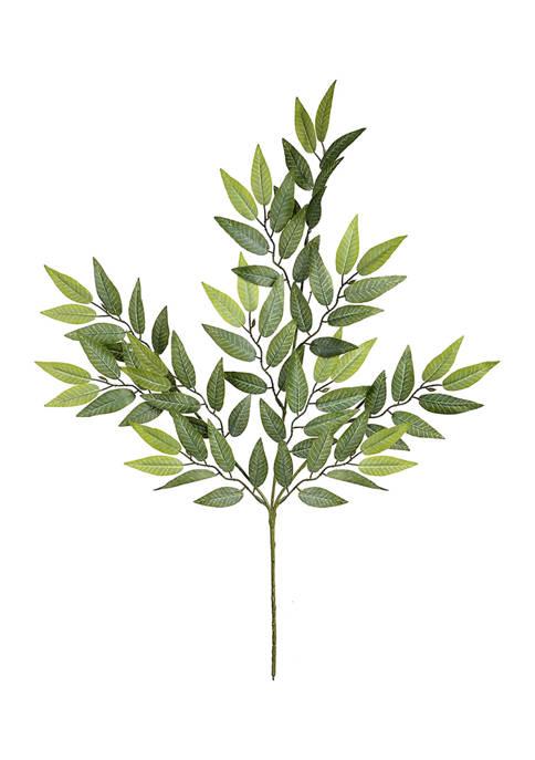 Vickerman Mini Green Leaves Spray