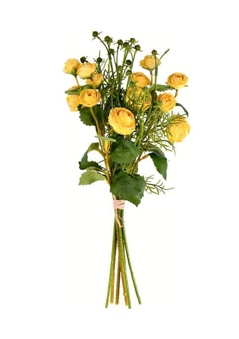 Yellow Mini Ranunculus Spray