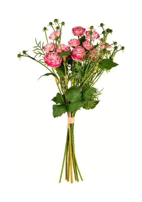 Vickerman Pink Mini Ranunculus Spray