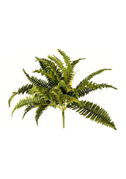 19 Inch Artificial Green Boston Fern Bush