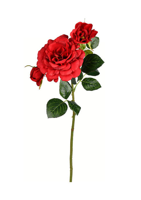 Burgundy Rose Stem - Set of 3