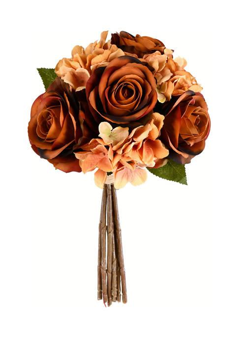 Vickerman Brown Rose and Hydrangea Bouquet