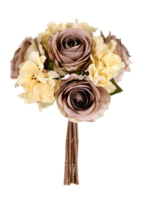 Ivory Rose and Hydrangea Bouquet
