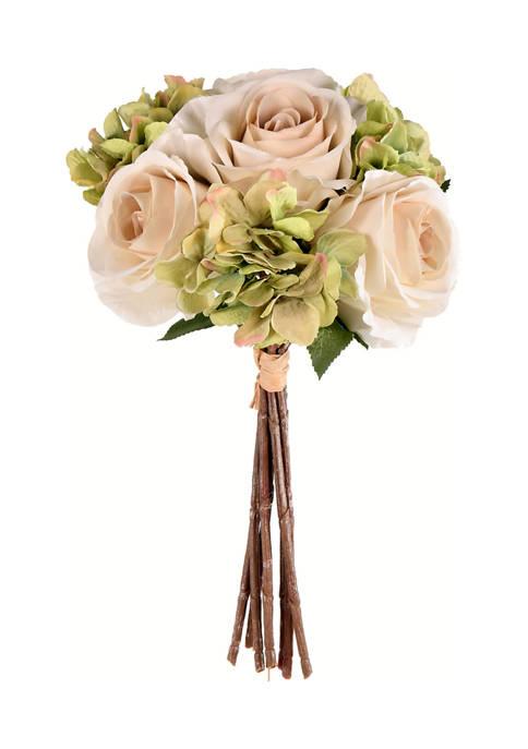 Green Ivory Rose Hydrangea Bouquet