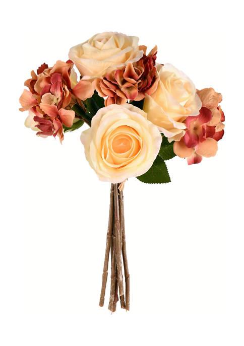 Pink Ivory Rose Hydrangea Bouquet