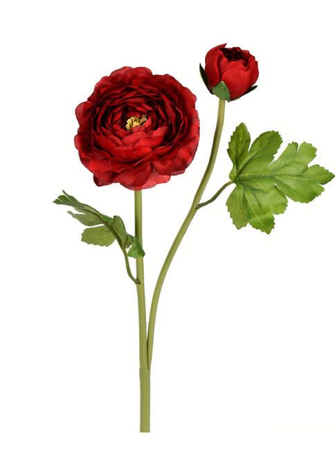 Red Ranunculus Stem - Set of 6