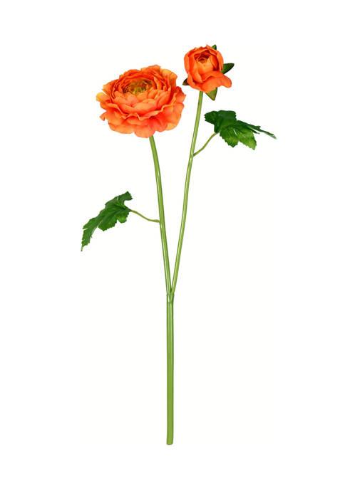 Orange Ranunculus Stem - Set of 6