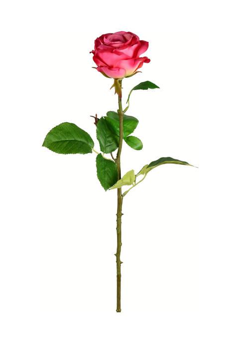 Vickerman Deep Pink Rose Stem