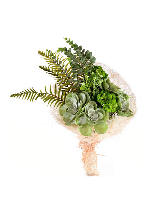 Vickerman Green Succulent Bouquet