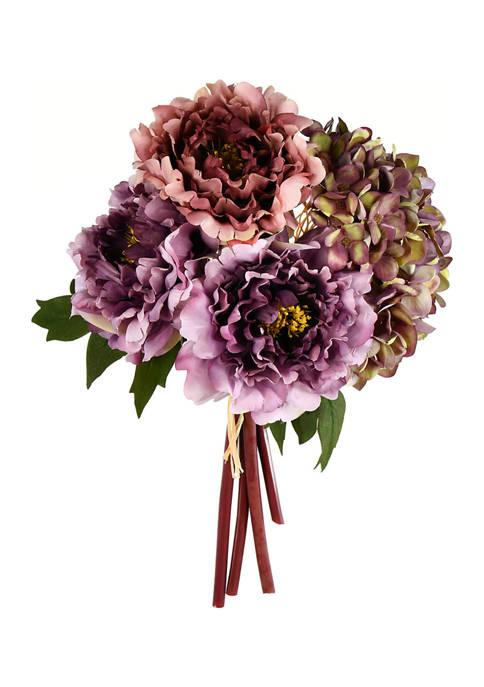 Purple Hydrangea Peony Bouquet