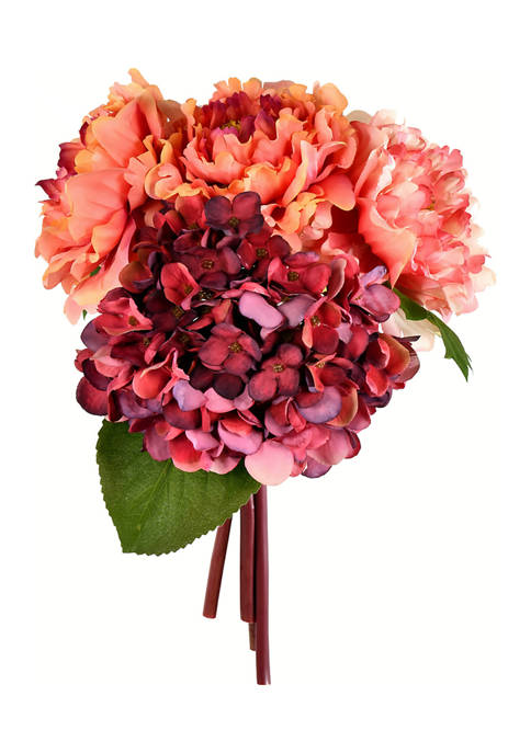 Vickerman Pink Hydrangea Peony Bouquet