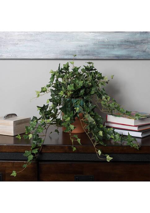 Vickerman Green Mini Ivy Hanging Bush