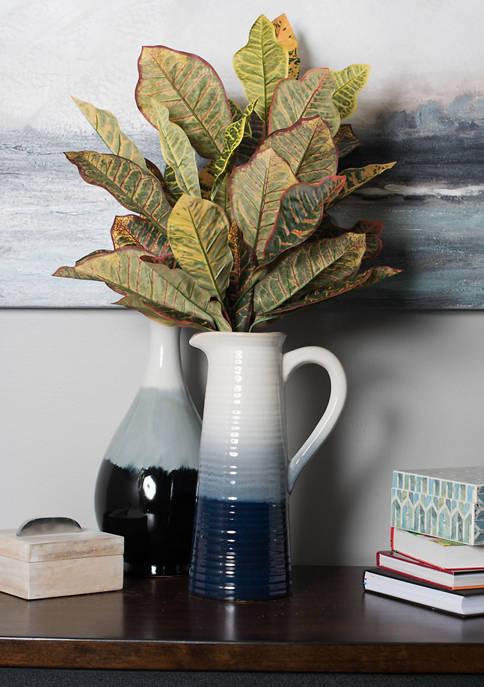 Artificial Green and Orange Cronton Plant
