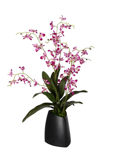 Vickerman Mini Dancing Purple Orchid in Ceramic Pot