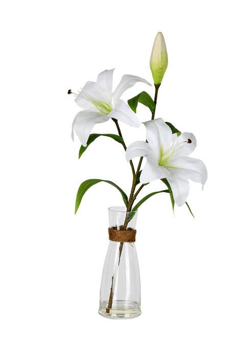 Vickerman White Lily in Glass