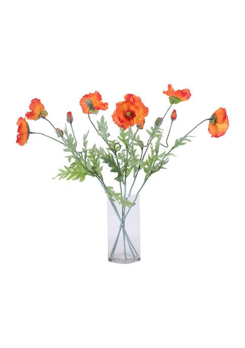 Orange Poppy Spray - Set of 6