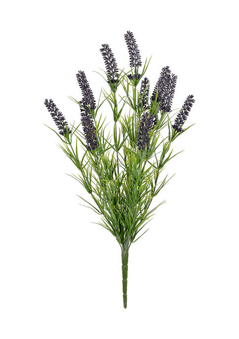 Purple Lavender Bush UV Coated - Set of 2