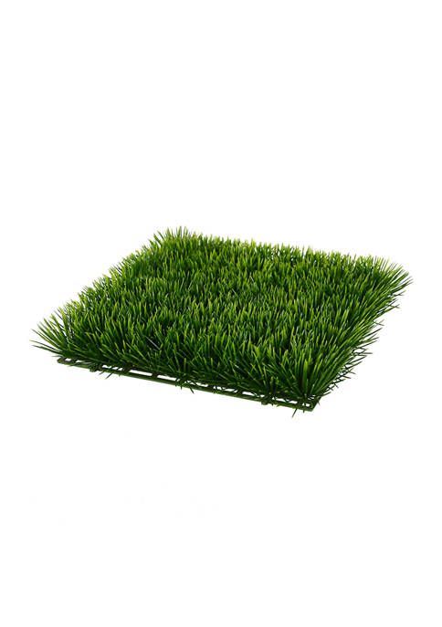 Green UV Coated Grass Matt - Set of 2