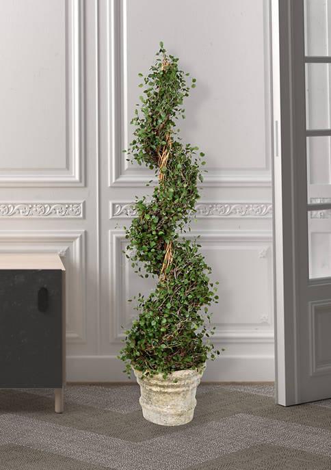 Vickerman Potted Green Angel Vine Spiral Tree in