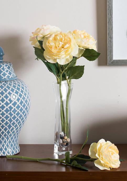 Vickerman Yellow Peony Rose Stem