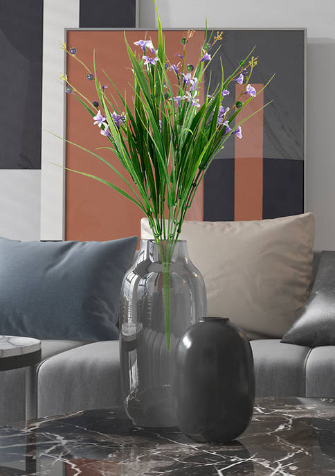 Vickerman Green and Lavender Grass Flower Bush