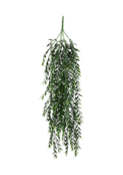Vickerman Green Salix Leaf Hanging Bush